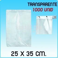 1000 bolsas frutería block transparente 25x35cm