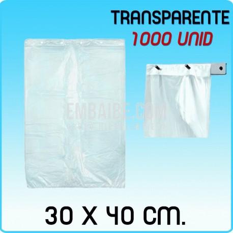 1000 bolsas frutería block transparente 30x40cm