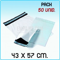 50 Bolsas para mensajería anónima 43x57 cm