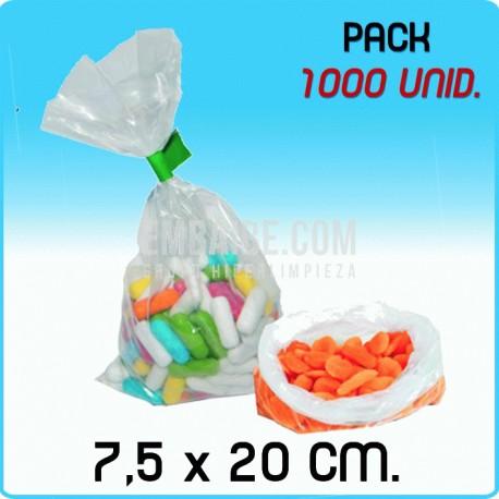 Bolsas polietileno transparente Medida 7,5x20 cm 16000 Unidades