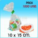 1000 sacos polietileno transparente 10x15 cm