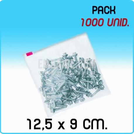 1000 Bolsas polietileno con cierre cursor 12,5x9 cm