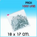 1000 Bolsas polietileno con cierre cursor 18x17 cm