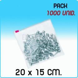 Bolsas polietileno cierre cursor Medida 20x15 cm 2000 Unidades