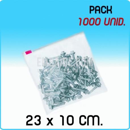 1000 Bolsas polietileno con cierre cursor 23x10 cm 1000 Unidades