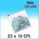 100 Bolsas polietileno con cierre cursor 23x10 cm