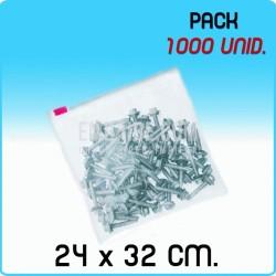 1000 Bolsas polietileno con cierre cursor 24x32 cm