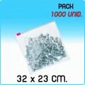 1000 Bolsas polietileno con cierre cursor 32X23 cm