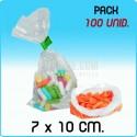 100 Bolsas polietileno transparente 7x10 cm