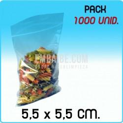 1000 Bolsas autocierre 5,5x5,5 cm