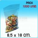 1000 Bolsas autocierre 8,5x18 cm