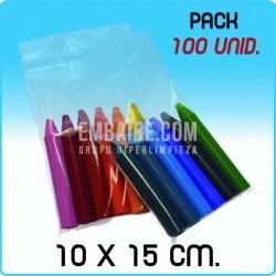 100 Bolsas de autocierre 10x15 cm