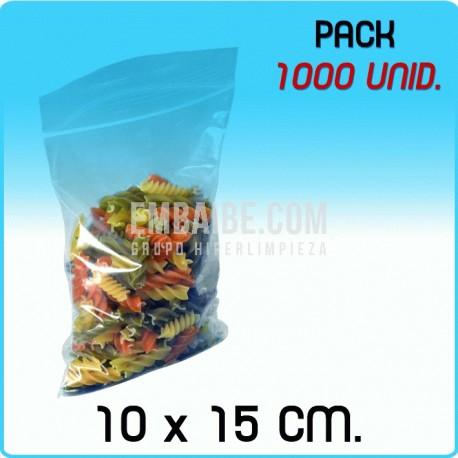 1000 Bolsas autocierre 10x15 cm
