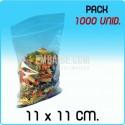 1000 Bolsas autocierre 11x11 cm