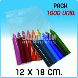 1000 Bolsas de autocierre G300 12x18 cm