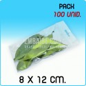 100 Bolsas autocierre eurotaladro 8x12cm