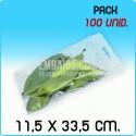 100 Bolsas autocierre eurotaladro 11,5x33,5cm