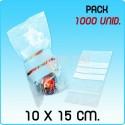 1000 Bolsas autocierre con banda para escritura G160 10x15cm